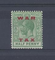 "BAHAMAS......KING GEORGE V.(1910-36)..."" WAR TAX "".......HALFd.......SG102.........MH....... - Bahamas (...-1973)"