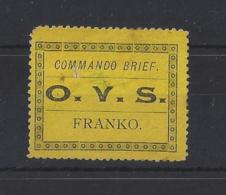 """SOUTH AFRICA..."""" ORANGE FREE STATE. """"...QUEEN VICTORIA..(1837-01).. """"..MILITARY STAMP..""""....THIN,GRUBBY...(CAT £33.).MH. - África Del Sur (...-1961)"""