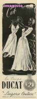 LinOriginal Vintage French Fashion Ad (1951): Ducat Lingerie - Publicités