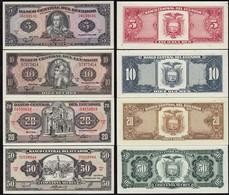 Ecuador 5,10,20,50 Sucres Banknoten 1988 UNC (1)  (14775 - Billetes