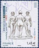 0634  Adhésif  Les 3 Nymphes D'Aristide Maillol Neuf  **  PRO - Autoadesivi