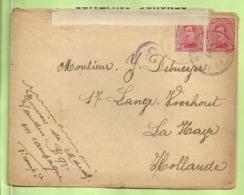 138 Op Brief PMB 2-> La Haye (Holland) Strookje CENSURE MILITAIRE 17 + CENSUUR + C.F.(Folkestone) (B7049) - Army: Belgium
