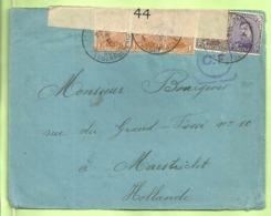 135+136+139 Op Brief PMB 4 -> Maastricht (Holland) Strookje CENSURE MILITAIRE 44 + CENSUUR + C.F.(Folkestone) (B7113) - Army: Belgium
