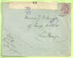140 Op Brief PMB 2 -> La Haye (Holland) Strookje CENSURE MILITAIRE 44 + CENSUUR + C.F.(Folkestone) (B7132) - Army: Belgium