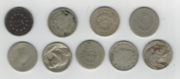 USA Used Old Nickels X 9  (Shield, Liberty ,Buffalo) See Both Scans - Collections