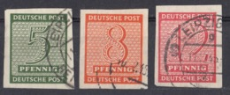 SASSONIA OCCIDENTALE - 1945 - Lotto Di 3 Valori Usati: Yvert 1, 3 E 4, Come Da Immagine. - Sowjetische Zone (SBZ)