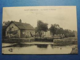 CPA   SAINT MAURICE DOUBS   LE CANAL   ECLUSE  1923 - Frankrijk