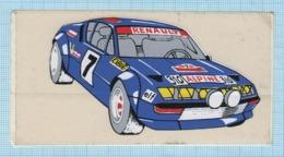 POLAND / Sticker, Sticky Label / Racing Passenger Sports Car RENAULT 310 Alpine. France 1970s - Race