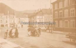 CARTE PHOTO ALLEMANDE SENONES 1915 ? PLACE VAUTRIN IMPRIMERIE ANDRE BOYE    FRONT DES VOSGES - Senones