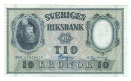Sweden 10 Kr. 1959. AUNC. - Svezia