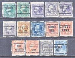 U.S. 498 +    Perf.  11   (o)  OHIO   1917-19  Issue - Precancels