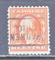 U.S. 506    Perf.  11   *    OHIO   1917-19   Issue - Precancels