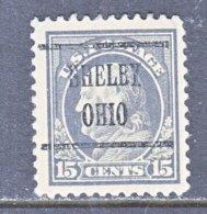 U.S. 514    Perf.  11   *    OHIO   1917-19   Issue - Precancels