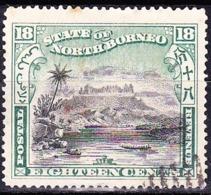 NORTH BORNEO 1897 18c Black & Green SG108 (Cancelled To Order) - Borneo Del Nord (...-1963)