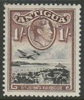 Antigua, GVIR, 1949, 1/= Black & Red-brown, MH * - Antigua & Barbuda (...-1981)