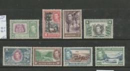British Honduras GVIR, 1938 1c - 25c, (2c = 1947,  Perf 12), MH * - British Honduras (...-1970)