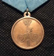 """Russia 1809, Medal Alexander-I, """"For The Crossing To The Swedish Coast"""",Russian-Swedish War (1808-1809), VF Condition !! - Medals"""