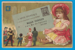 IMAGE GRAND BAZAR PARISIEN GARNIER FRERES REIMS / IMP H. LAAS PARIS / LETTRE TIMBRE - Other
