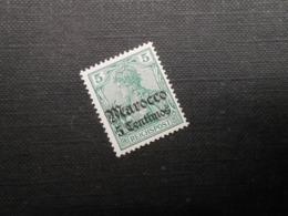 D.R.Mi 20  5C Auf 5Pf*MLH - Deutsche Auslandspostämter ( MAROKKO ) 1905 - Mi 10,00 € - Offices: Morocco