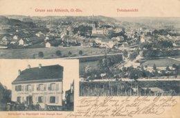 Gruss Aus Altkirch (68 Haut Rhin) Totalansicht - Wirtschaft Bierdépôt Von Joseph Hert - Circulée 1908 - Altkirch