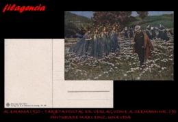 PIEZAS. ALEMANIA. TARJETAS POSTALES. TARJETA POSTAL 1920. PINTURA DE MAX LEINZ. ED. VERLAG VON E.A. SEEMANN NO. 190 - Alemania