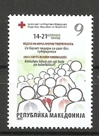 Macedonia, 2018, TUBERCULOSES,RED CROSS,SURCHARGE,ADITIONAL STAMPS,,,MNH - Macedonia