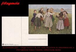 PIEZAS. ALEMANIA. TARJETAS POSTALES. TARJETA POSTAL 1920. PINTURA DE HANS THOMAS. ED. VERLAG VON E.A. SEEMANN NO. 6 - Alemania