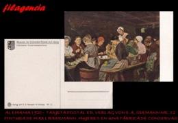 PIEZAS. ALEMANIA. TARJETAS POSTALES. TARJETA POSTAL 1920. PINTURA DE MAX LIEBERMANN. ED. VERLAG VON E.A. SEEMANN NO. 12 - Alemania