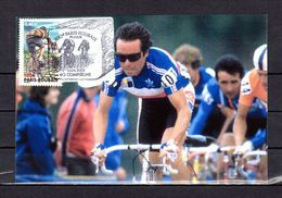 """"""" 100 ANS DU PARIS-ROUBAIX / BERNARD HINAULT """" Sur Carte Maximum Souple De 2002  N° YT 3481. Parfait état. CM - Cyclisme"""