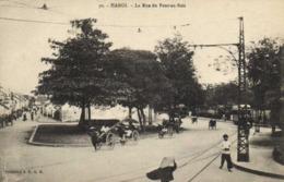 Tonkin HANOI La Rue Du Pont Au Bois Pousse Pousse 's  RV - Viêt-Nam