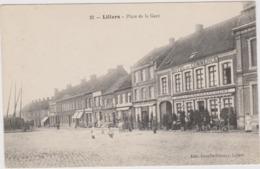 CARTE POSTALE   LILLERS 62  Place De La Gare - Lillers