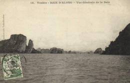 Tonkin BAIE D'ALONG Vue Générale De La Baie + Beau Timbre 5c  RV - Viêt-Nam