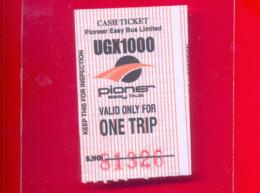 UGANDA Kampala City Bus Ticket 2019 Ouganda - Wereld
