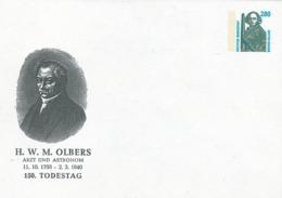 Heinrich Wilhelm Matthias Olbers Deutscher Astronom Arzt Bahnbestimmung Himmelskörpern Asteroiden Pallas Vesta Ganzsache - Astronomie