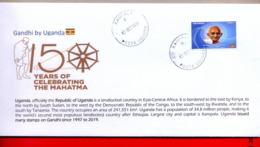 UGANDA 2019 New Stamp Issue GANDHI Birth Anniversary Private FDC First Day Of Issue Cover OUGANDA #2 - Oeganda (1962-...)