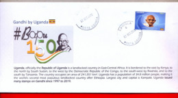 UGANDA 2019 New Stamp Issue GANDHI Birth Anniversary Private FDC First Day Of Issue Cover OUGANDA #4 - Oeganda (1962-...)