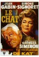 Réf. 495/ 1 CPM - Carte Postale Cinéma - Le Chat - Simenon - Jean Gabin Simone Signoret - Affiches Sur Carte