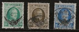 Belgique 1929-1930 N°Y.T. :  TS. 3,4 Et 6 Obl. - Officials