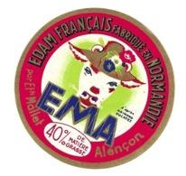 ETIQUETTE De FROMAGE..EDAM FRANCAIS Fabriqué En NORMANDIE..EMA.. Ets MALLET à ALENCON ( Orne 61) - Cheese