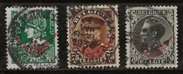 Belgique 1932-1933 N°Y.T. :  TS. 17 à 19 Obl. - Officials