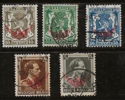 Belgique 1936-1938 N°Y.T. :  TS. 20 à 25 - 22 Obl. - Officials