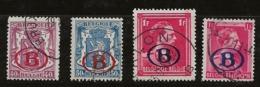 Belgique 1941 N°Y.T. :  TS. 27 à 30 Obl. - Officials