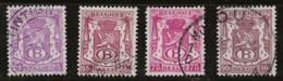 Belgique 1945-1949 N°Y.T. :  TS. 38 Et 39 à 41 Obl. - Officials