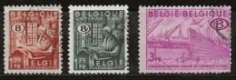 Belgique 1948-1949 N°Y.T. :  TS. 42 à 44 Obl. - Officials