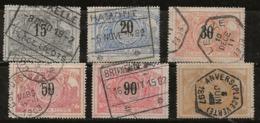 Belgique 1895-1902 N°Y.T. :  CP. 15,17,19,21,25 Et 27 Obl. - 1895-1913