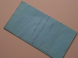 NOTICE Livres Composant Le Fonds JMAR - Encyclopedie Nationale / Anno 1851 ( Voir Photo ) Vieux / Oude Lettre ! - Enciclopedias