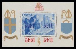 """RRR - Bloc """"ORVAL"""" N° 18 - Double Surcharge Renversée; 1 Anglaise En Rouge -1 Gothique En Bleu. - Privatpost"""