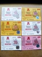 6 Transport Tickets Vilnius City Capital Of Lithuania BUS Monthly Ticket 2008 35lt. - Week-en Maandabonnementen