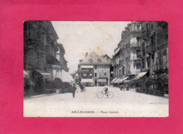 73 Savoie, AIX-les-BAINS, Place Carnot, Animée, Commerces, (Publicité Fermifuge Pivot) - Aix Les Bains