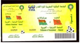 Billet Invitation. Match Amical De Football 2012. Maroc#Burkina Faso. Tribune D'Honneur Ouest. Toute Petite Tache. - Otros